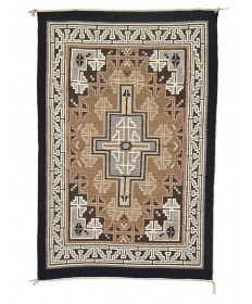 Two Grey Hills rug by Amelia Begay (Navajo)