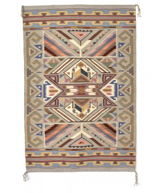 Burntwater rug by Irene Bia (Navajo)