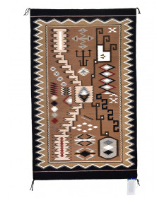 Storm pattern rug by Louise McCabe (Navajo)