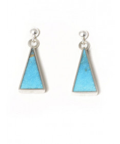 Multi-stone earrings by Veronica Thompson (Navajo)
